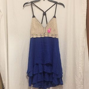 Double zero sleeveless Dress size Medium Blue